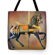 Carousel Black Stallion Body Tote Bag