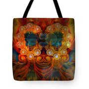 Carousel Faces, Twins Tote Bag