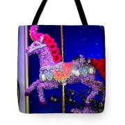Carousel Floral Beauty Tote Bag