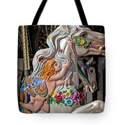 Carousel Horse And Angel Tote Bag by Garry Gay
