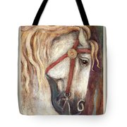 Carousel Horse Painting Tote Bag
