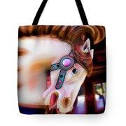 Carousel Horse Portrait Tote Bag