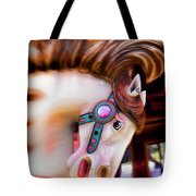 Carousel Horse Portrait Tote Bag by Garry Gay