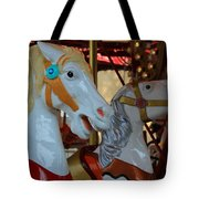 Carousel Horses At A Fair Tote Bag