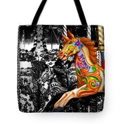 Carousel In Isolation Tote Bag