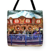 Carousel Inside The Mall Tote Bag