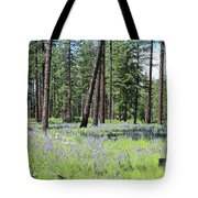 Carpet Of Lupine In Washington Forest Tote Bag