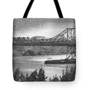 Carquinez Bridge Pointilized B And W Tote Bag