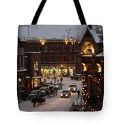 Carriage And Slded On Snowy Steets Tote Bag