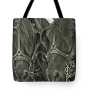 Paired Carriage Ponies Tote Bag