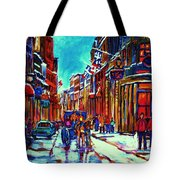 Carriage Ride Through The Old City Tote Bag