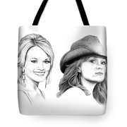 Carrie And Carrie Underwood Tote Bag