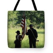 Carrier Of The Flag Tote Bag