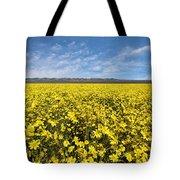 Carrizo Plain Desert Sunflower Field Afternoon Tote Bag