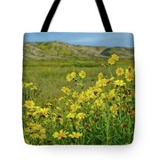 Carrizo Plain Yellow Daisies Tote Bag