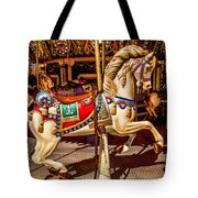 Carrousel Horse Ride Tote Bag