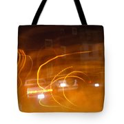 Cars On Fire Tote Bag