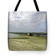 Cars Travelling On Ryde Pier Tote Bag