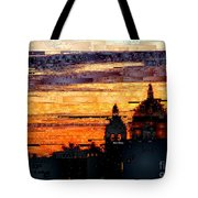 Cartagena Colombia Night Skyline Tote Bag