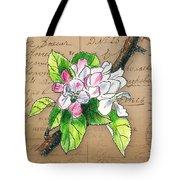 Carte Postale. Blossoming Apple Tote Bag