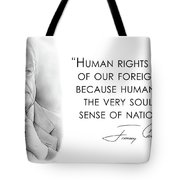 Carter On Human Rights Tote Bag