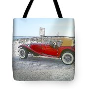 Cartoon Car Tote Bag