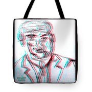 Cartoon Ink Sketch Of The Candidate Tote Bag