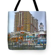 Cartoon Skyscraper  Tote Bag