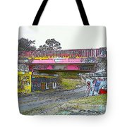 Cartoon Street Art Tote Bag