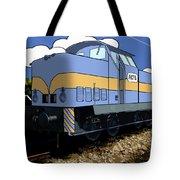 Illustrated Train Tote Bag