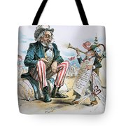 Cartoon: Uncle Sam, 1893 Tote Bag