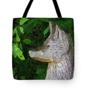 Carved Dogs Head Tote Bag