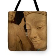 Carved Face Tote Bag
