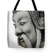 Carved Monk Statue Tote Bag