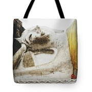 Carved Stone Buddha Statue Wat Temple Complex In Old Siam Kingdom, Ayutthaya, Thailand Tote Bag