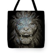 Carved Stone Lion's Head Tote Bag