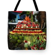 Carved Watermelon, Surin Elephant Tote Bag