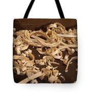 Carving Curls Tote Bag