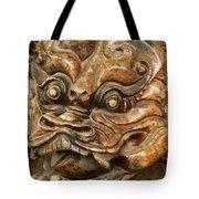 Carvings In Jade - 3 - A Dragon's Face  Tote Bag