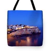 Carvoeiro In The Algarve Portugal At Night Tote Bag