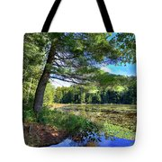 Cary Lake In August Tote Bag