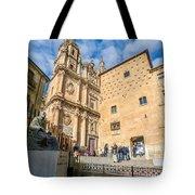 Casa De Las Conchas In Salamanca Tote Bag