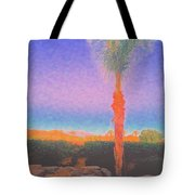 Casapaz  Palm At Dawn Tote Bag