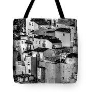 Casares Pueblo. Black And White Tote Bag