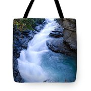 Cascade In The Maligne Canyon Tote Bag