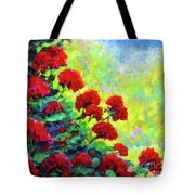 Cascade Of Geraniums Tote Bag
