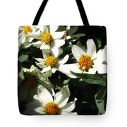 Cascade Of White Flowers Tote Bag