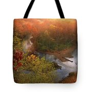 Cascade Valley Sunrise Tote Bag