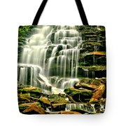 Cascades Of Erie Falls  Tote Bag