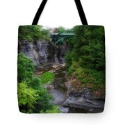 Cascadilla Gorge Cornell University Ithaca New York 01 Tote Bag
